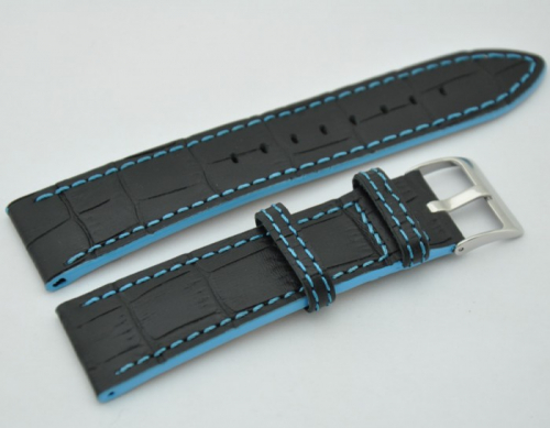LeVeL 426.1.18 чёрный светло-синяя нитка